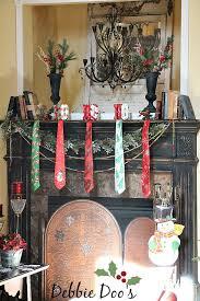 christmas mantel with a twist and tie debbiedoos