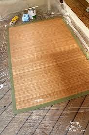 Diy Outdoor Rug Painting A Bamboo Rug Pretty Handy Girl