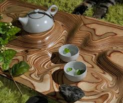 topography coffee table tea table