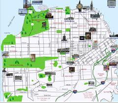 san francisco map for tourist visual summary of popular landmarks voice