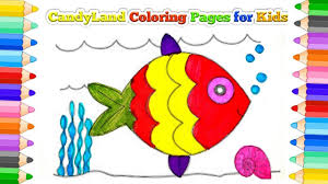 painting the water fish coloring page for kids youtube