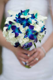Blue Orchids Blue Orchid Wedding Bouquet Bride In Bloom
