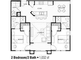 Two Bedroom Cabin Plans 2 Bedroom Floor Plan At Student Apartments In Charlotte House