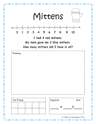 Basic Math Word Problems Worksheets Freebie Addition And Subtraction Word Problems Number Line Ten