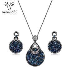 blue crystal necklace set images Viennois blue crystal from women jewelry sets fashion rhinestone jpg