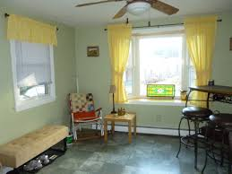 Yellow And Green Living Room Curtains Green Curtains Yellow Walls Top Both Curtain Decorate The House