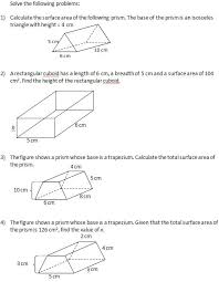 find the surface area of solids ii worksheets and solutions