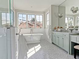 bathroom large country corner shower shaker cabinets mosaic tile