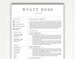 Free Resume Templates Australia Download Resume Template Etsy