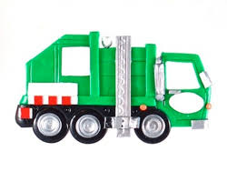 personalized side loading garbage truck ornament ornament