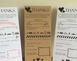 wedding advice card wedding advice cards etsy