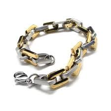 men charm bracelet images Mens boys golden silver pure titanium charm bracelet 15952 jpg