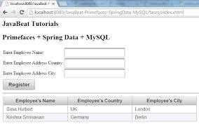 tutorial netbeans y mysql primefaces 5 spring data mysql integration