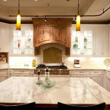 kitchen without cabinet doors wall tile backsplash quartz