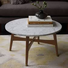 marble top cocktail table reeve mid century coffee table marble west elm