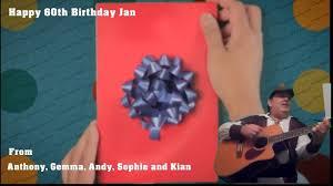 happy birthday telegrams real singing telegrams manchester happy 60th birthday jan