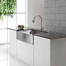 faucet sink kitchen decorations favored white rectangle farmhouse sink and chrome