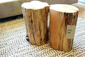 Log Side Table Stump Coffee Table Coffee Tables Tree Stump Coffee Table Trunk