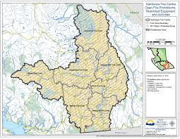 Wildfire Alberta Map by Update Fire Prohibitions In Kamloops Fire Centre Start Sunday