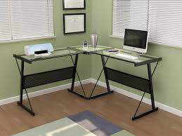 altra furniture aden corner glass computer desk altra furniture