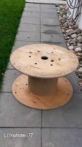 table basse touret bois bobine en bois touret pour ma terrasse