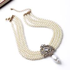 necklace for multilayered chain necklace pearls choker necklace fashion