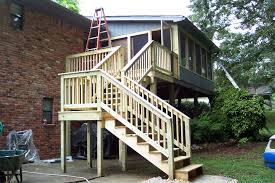 Back Porches by Back Porch And Stairs Tennessee Deck Builders