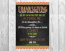 thanksgiving pregnancy announcements