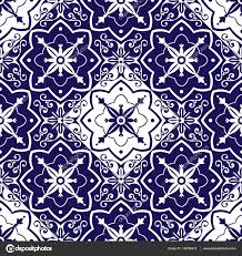 moroccan wrapping paper tiles pattern vector with diagonal chess blue and white ornaments