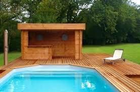 cuisine d été en bois cuisine ete exterieur cuisine d ete en bois des pool house dactac