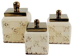 kitchen canisters and jars ceramic canisters set of 3 kitchen canisters and jars by drew