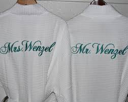 His And Hers Wedding Gifts Mr And Mrs Robes Etsy