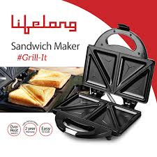 Toaster With Sandwich Maker Black And Steel Sandwich 116 Home U0026 Personal Care Appliances