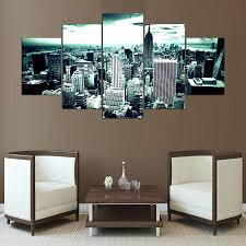 compare prices on city landscape painting online shopping buy low canvas wall art pictures home decor for living room 5 pieces grey new york city with