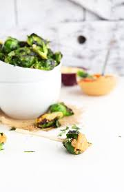 vegan sriracha mayo crispy brussels sprouts with sriracha aioli minimalist baker recipes