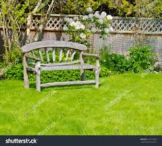 wooden bench designed country style on stock photo 101775328