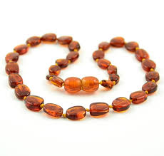 amber beads necklace images Baltic amber teething necklace polished baltic amber beads jpg