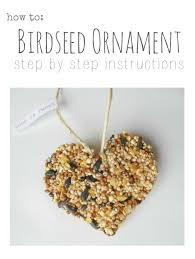 diy birdseed ornament