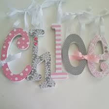 Decor Baby by Pink And Grey Nursery Decor Single Letter Baby Wooden