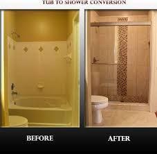 Bathroom Tub To Shower Conversion Enchanting Best 25 Tub To Shower Conversion Ideas On Pinterest