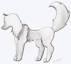 wolf drawing by lightningbluexx on deviantart