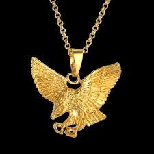 golden necklace women images Hip hop gold color eagle religious pendant necklace women men jpg