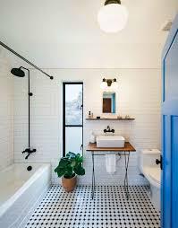 modern farmhouse austin texas bath subway tiles on the walls and