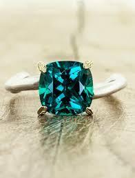 rings emerald images Nicci cushion cut emerald asymmetrical wave band ken dana jpg