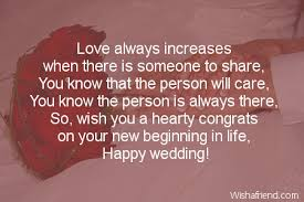 happy wedding message always increases when there is wedding message