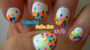 colorful polka dot nails summer nail art youtube