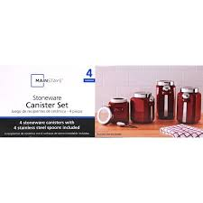 Purple Canister Set Kit by 4 Piece Canister Set Crimson Walmart Com
