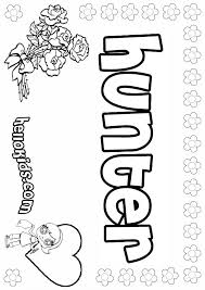 hunter coloring pages hellokids