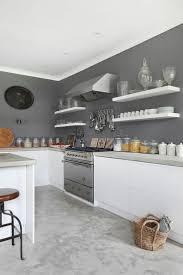deco cuisine grise et déco salon peinture murale de cuisine grise et blanche