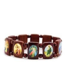 saints bracelet wood large saints bracelet